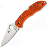 Складной нож Delica 4 Knife Flat Ground Orange FRN 70 мм. 11FPOR (Spyderco)