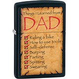 Зажигалка Zippo Things Learned From Dad 28372 (Zippo)