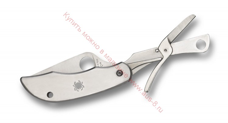 Складной нож + ножницы ClipiTools Scissors Multi-Purpose Knife 50 мм. 169P (Spyderco)