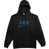 Толстовка ZT Deep Blue, Logo Black Drawstring Hoodie KHOODIE (Zero Tolerance)