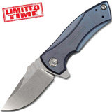 Нож складной Les George Design KVT® Flipper, Blue Anodized Titanium, Limited Time 60 мм. K0900BLU (Zero Tolerance)
