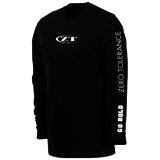 Футболка с длин. рук-вом ZT Black Long Sleeve T-Shirt w/ White ZT Logo KZTLONG (Zero Tolerance)
