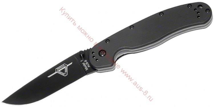 Складной нож RAT™-1 Black Blade, Black Handle 80 мм. ONT/8846ВР (Ontario)
